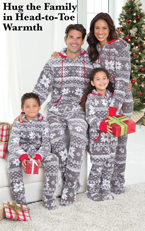 PajamaGram Family Pajamas Matching Sets - Nordic Fleece Christmas Onesie 4e7413d80