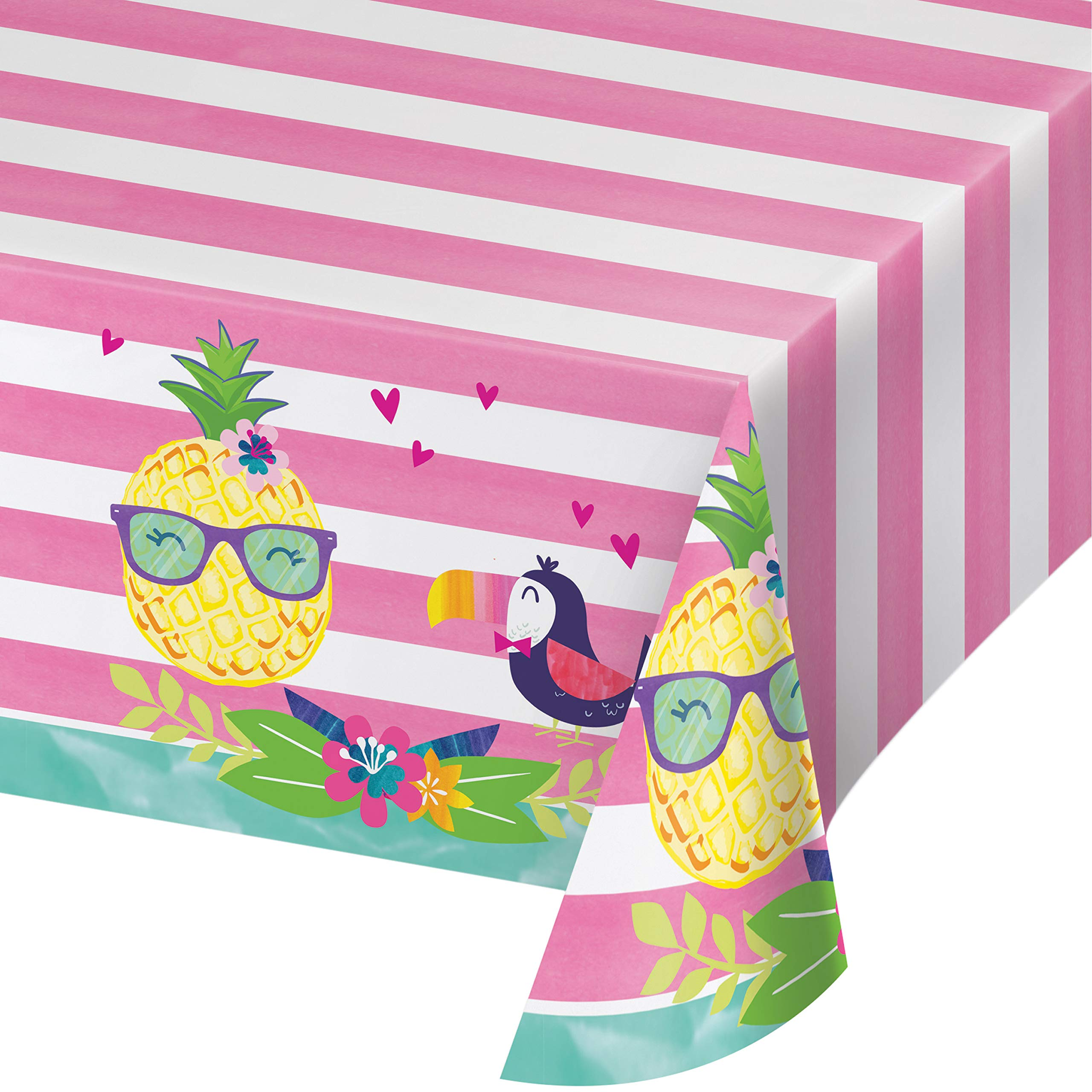 Pineapple Party Plastic Tablecloths, 3 ct