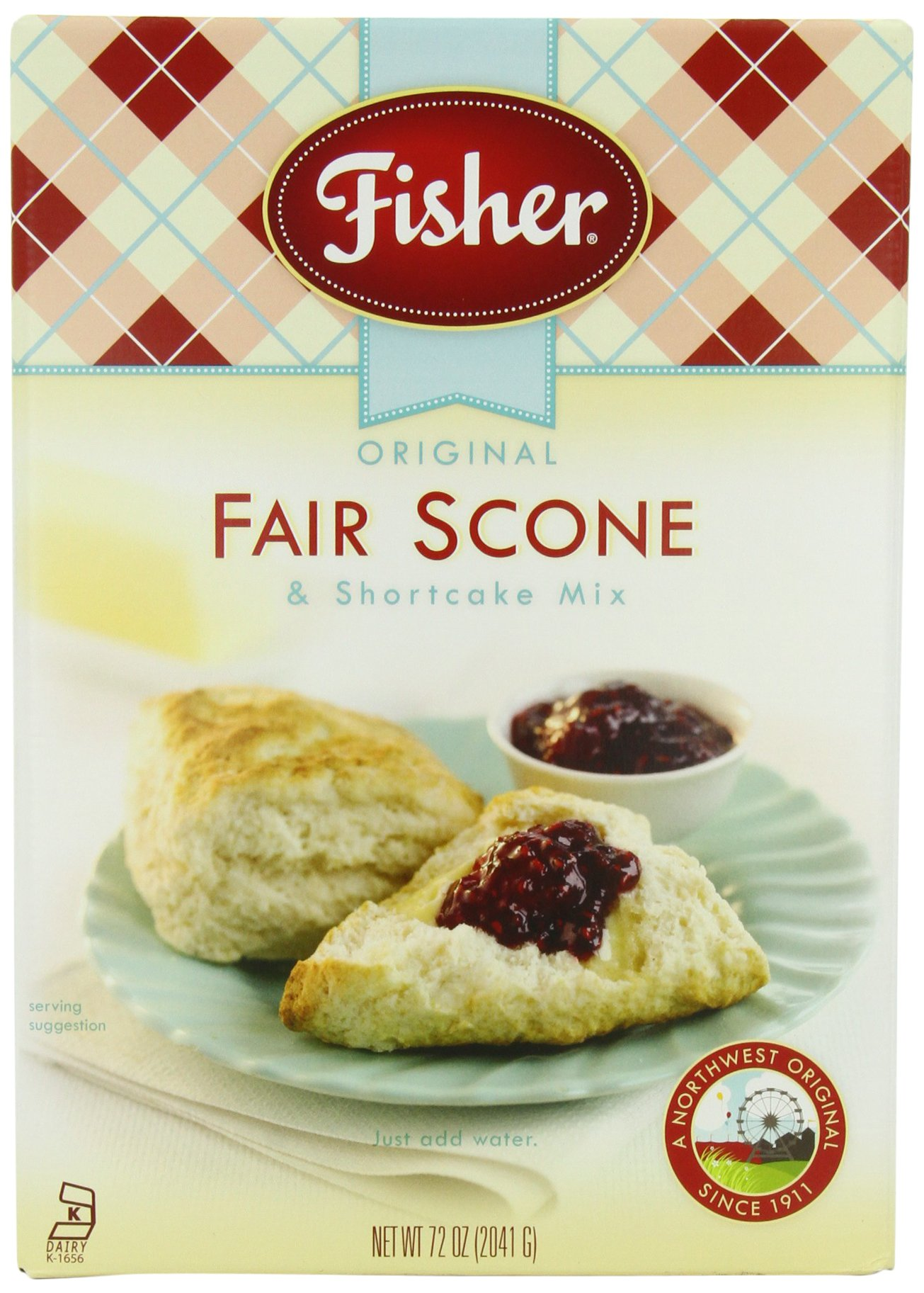 Fisher Original Fair Scone & Shortcake Mix, 72-Ounce Box