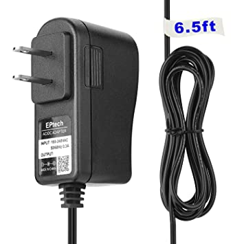 6.5FT AC DC adapter for Sony NTM-910 NTM-910YLW BabyCall Baby Call Sound Sensor Nursery Baby Monitor (Parent Unit)