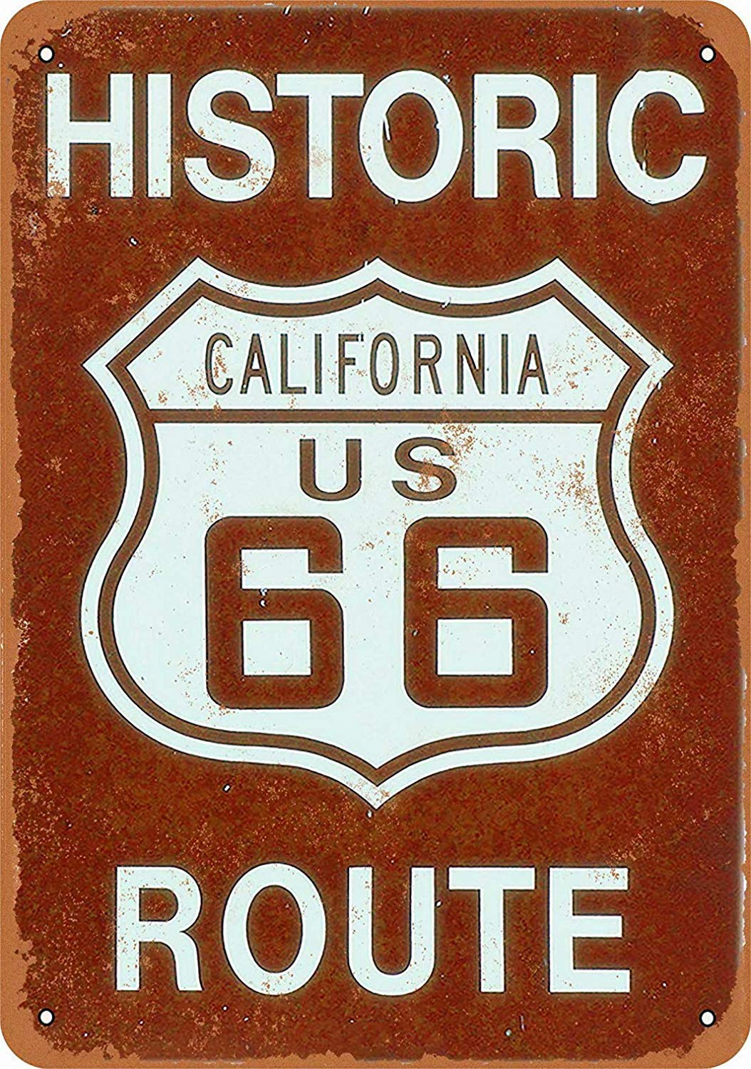 California Route 66 Póster de Pared Metal Creativo Placa ...