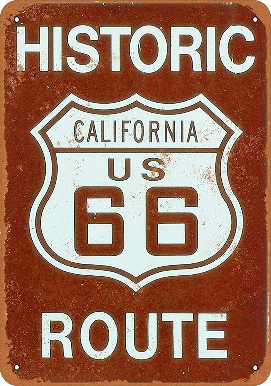 California Route 66 Póster de Pared Metal Creativo Placa ...