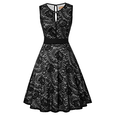 Kate Kasin Lace Halter Sleeveless A-Line Keyhole Wedding Party Formal Dress KK638 at Women's Clothing store