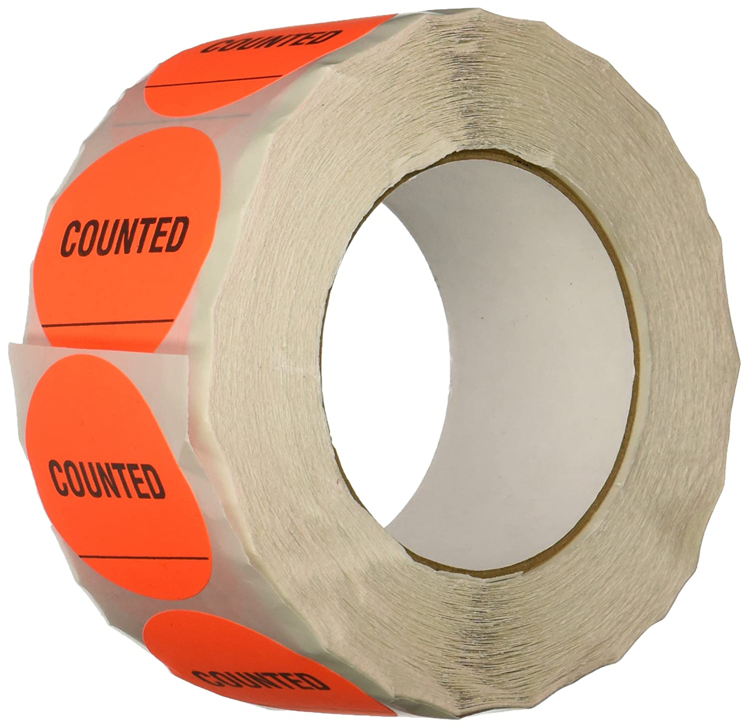 TapeCase Green'Counted' Inventory Control Label - 1000 per pack (1 Pack) INVLBL-023