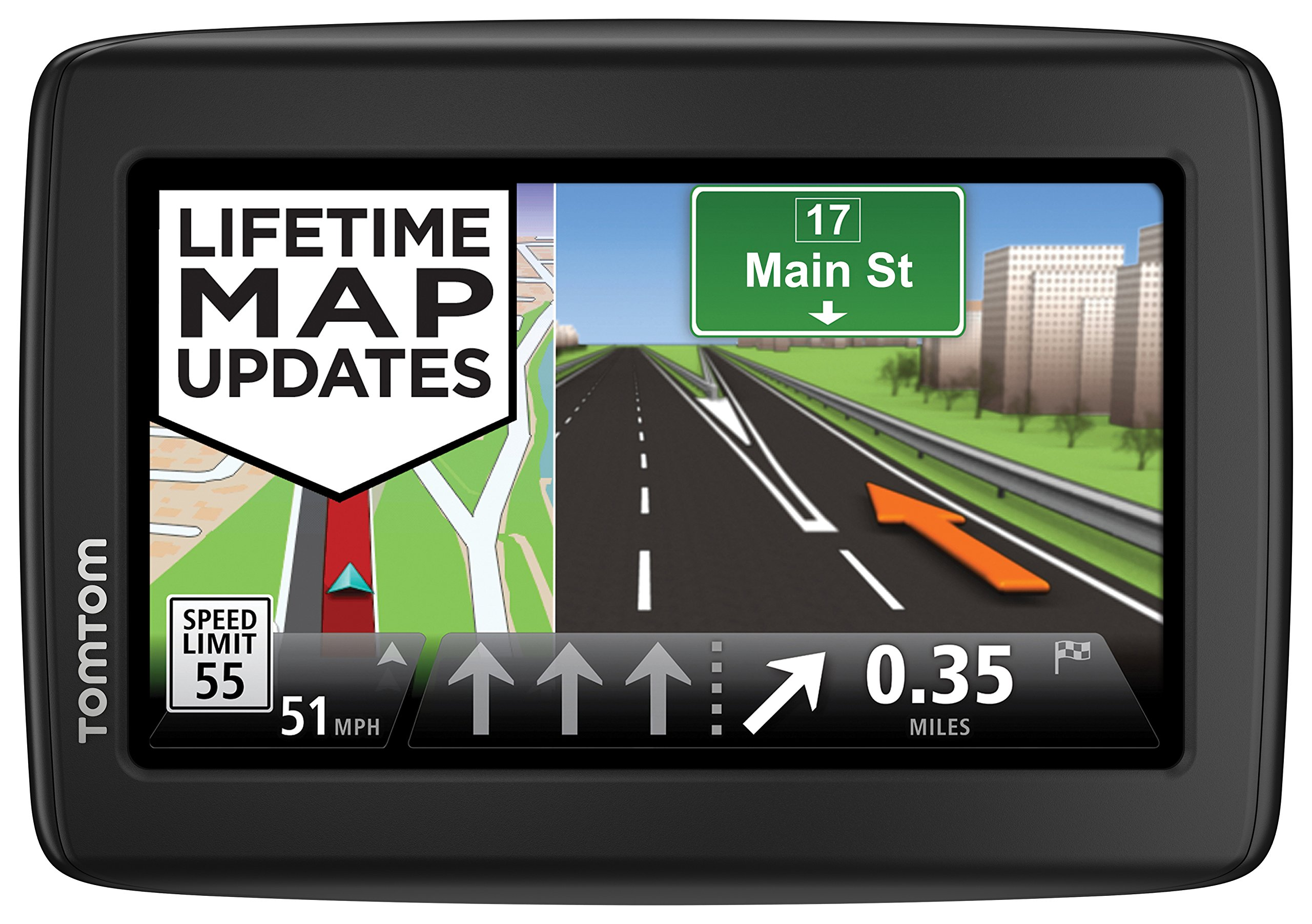 TomTom VIA 1515TM 5-Inch Portable Touchscreen Car GPS Navigation System -  Live Traffic, Lifetime Map Updates by TomTom