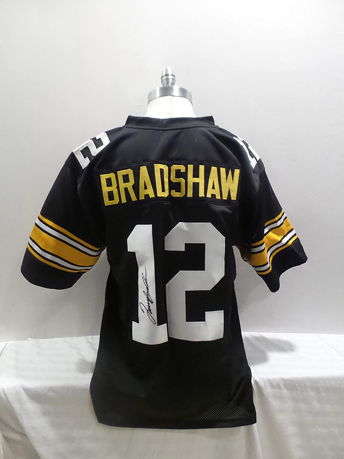 wholesale dealer 931db b597d Terry Bradshaw Signed Pittsburgh Steelers Black Autographed ...
