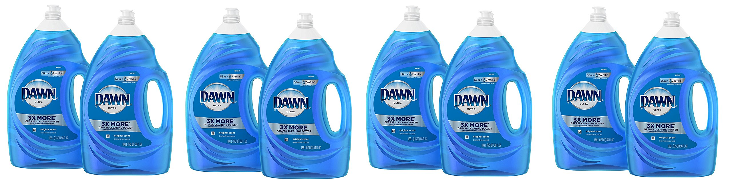 Dawn Ultra Dishwashing Liquid Dish Soap DdKDpX, Original Scent, 8 Count (56 Ounce)