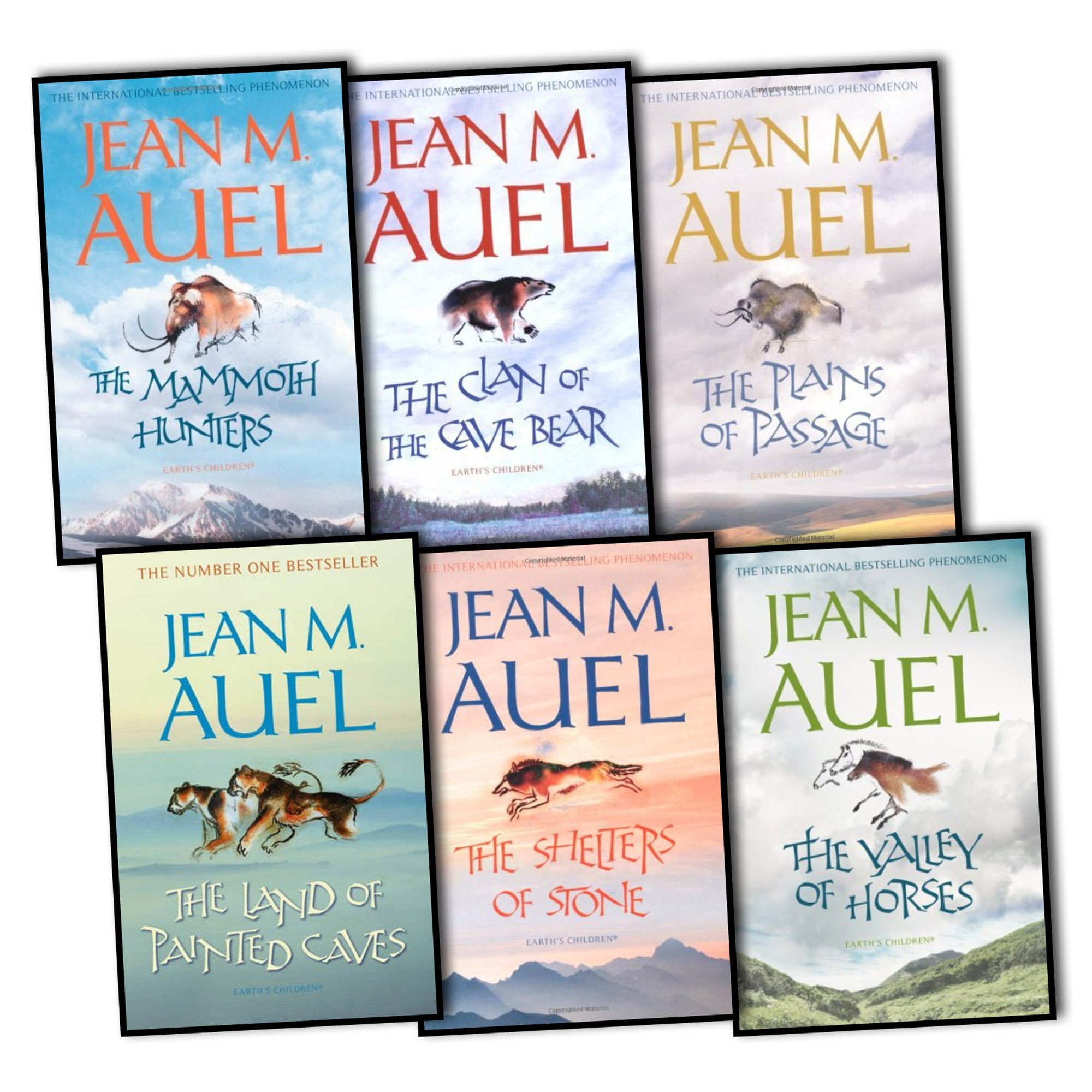 Jean M Auel 6 Books Earths Children Collection Pack Set The Valley