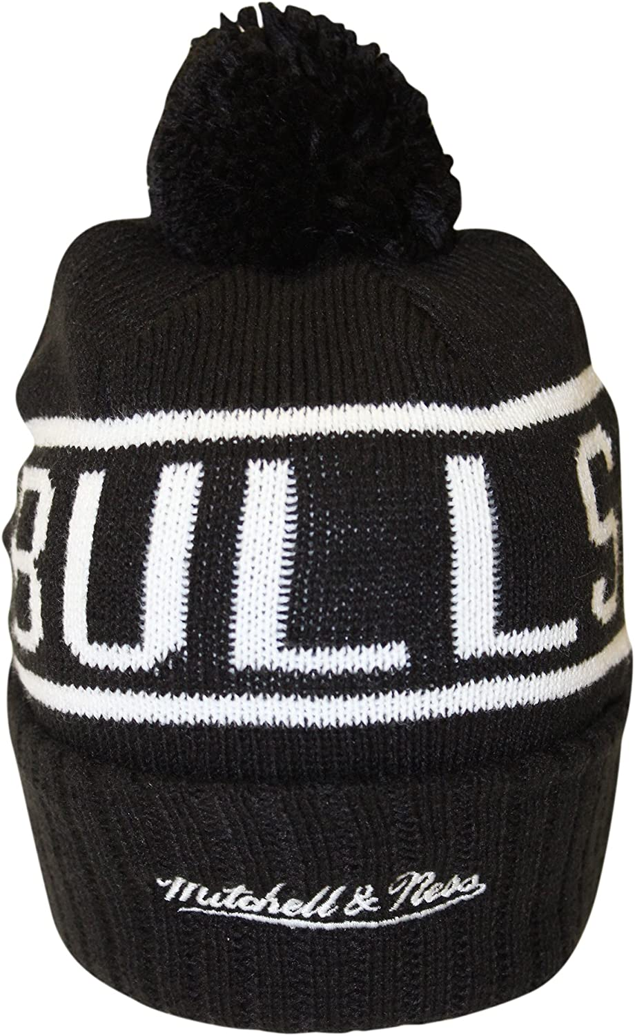 Mitchell /& Ness Mens Glow in The Dark NBA Pom Knit Beanie