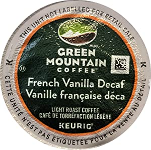 Green Mountain Coffee Roasters French Vanilla Decaf Coffee K-Cups for Keurig Brewers, 24 Count (Packaging May Vary)