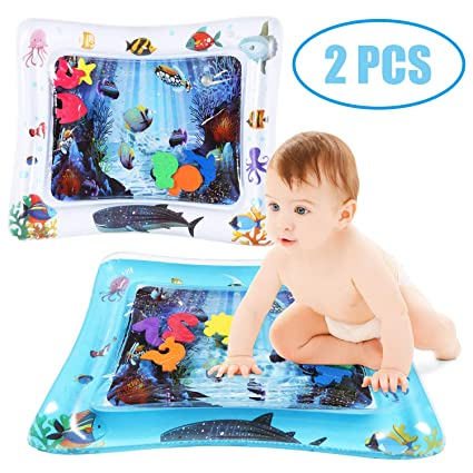Amazon Com Jollystyle 2pcs Tummy Time Inflatable Baby Water Play