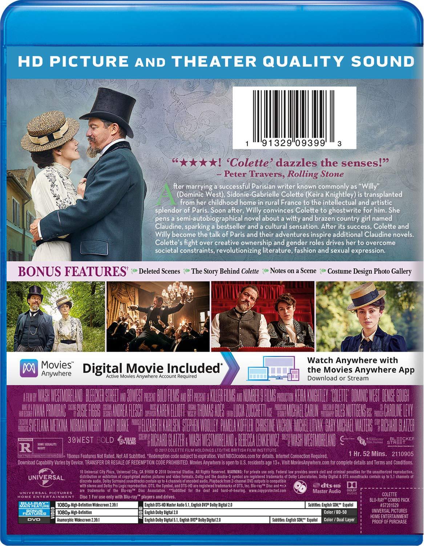 Amazon Com Colette Blu Ray Keira Knightley Dominic West Denise