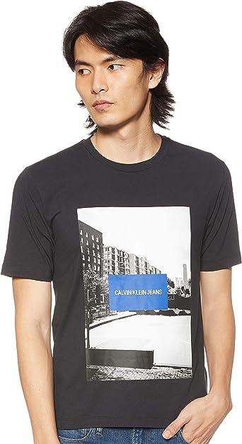 Calvin Klein - J30J313489 099 - CK Black - Camiseta con Estampado FOTOGRAFICO - Manga Corta - para Hombre: Amazon.es: Ropa y accesorios