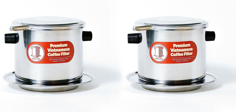 2 Pack Vietnamese Coffee Filter Brewer. Great für Travel und Camping, 11Oz Large, Gravity Insert