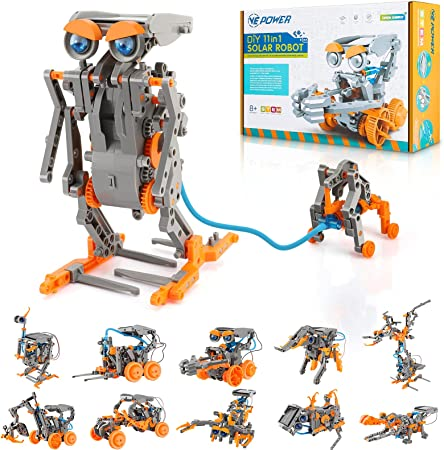 VEPOWER Stem Projects Toys for Kids, 11 in 1 Solar Robot Science Experiment Kit for Kids Ages 8-12, DIY Educational Learning Building Set Gift for Boys and Girls (231 Pieces)