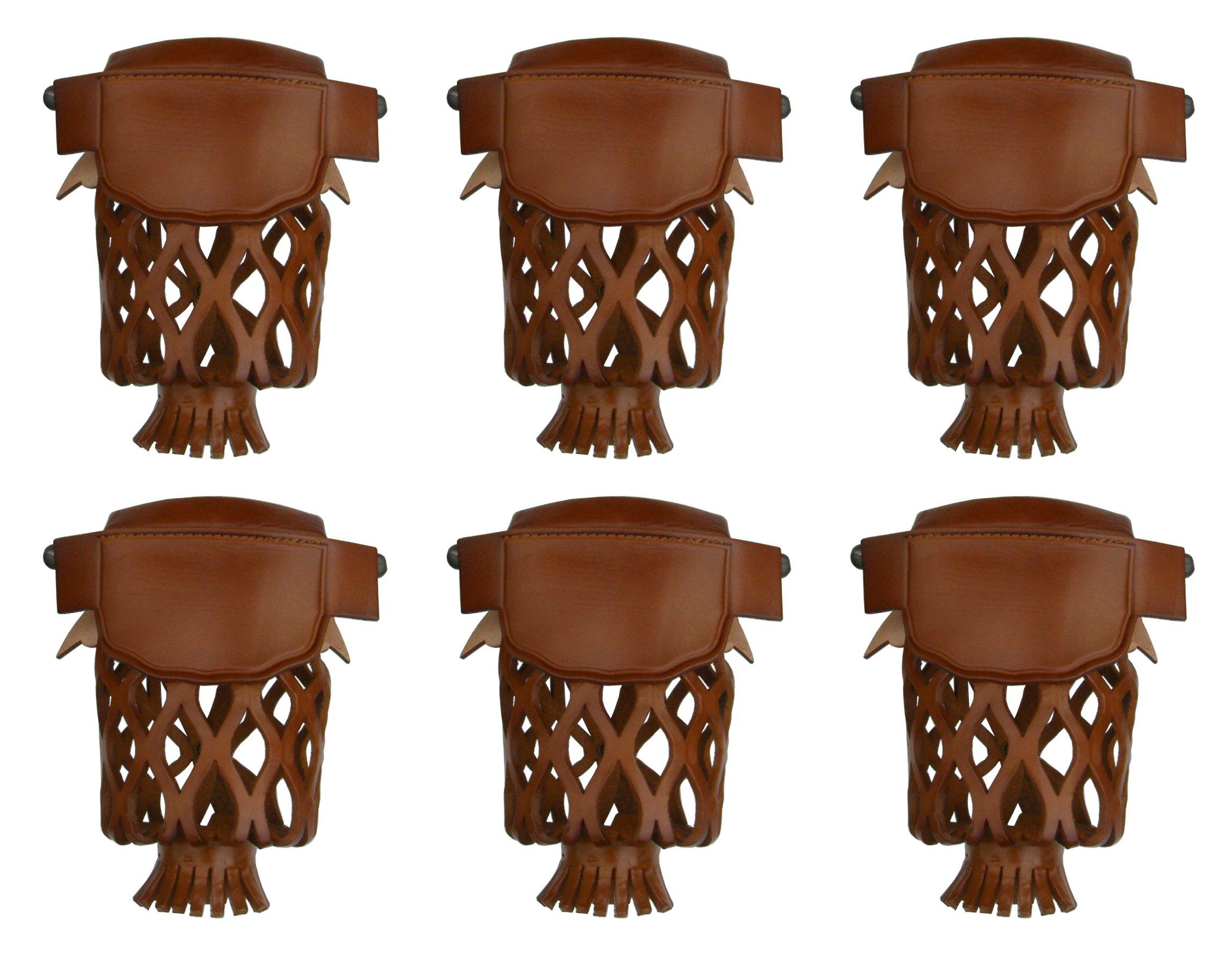 Iszy Billiards Iron Pool Table Billiard Pockets-Set of 6 (Caramel)
