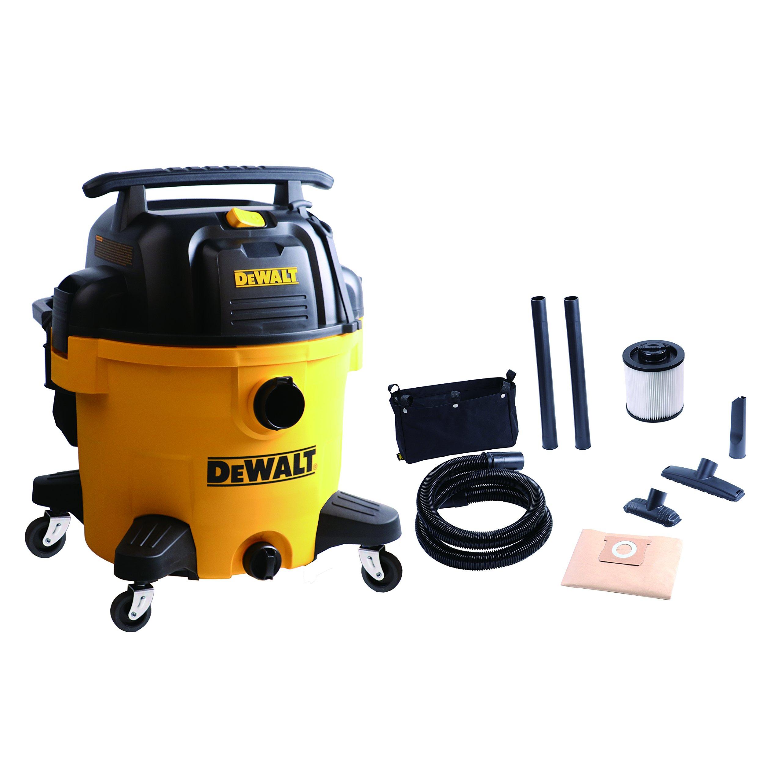 DEWALT DXV10P 10 Gallon Quiet Poly Wet Dry Vacuum Yellow by DEWALT (Image #2)
