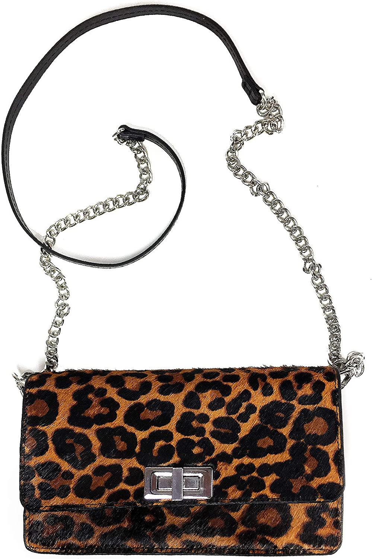 Leopard Print ZARA Clutch//Cross Body//Belt Bag Removable Chain /& Belt Strap