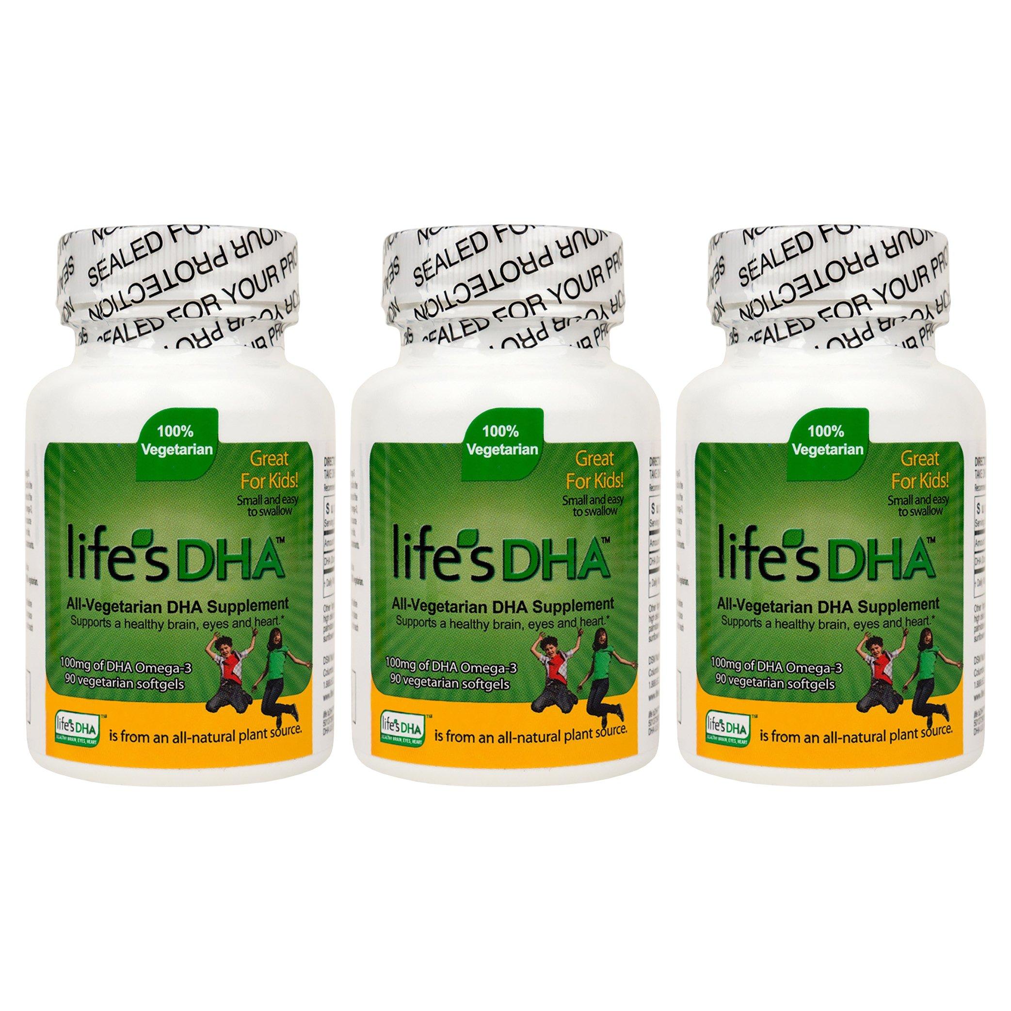 Martek Life's DHA Omega-3 DHA 100mg 90 All-vegetarian Softgels Kids - 3 Count