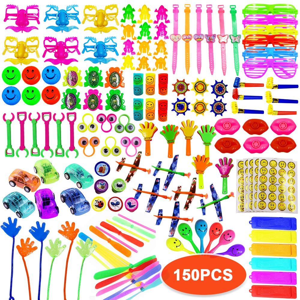 ToyerBee Party Favors for Kids, 150PCS Carnival Prizes for Boys&Girls, Birthday Party Favors, Treasure Box Prizes, Prizes Box Toy Assortment for Classroom by ToyerBee