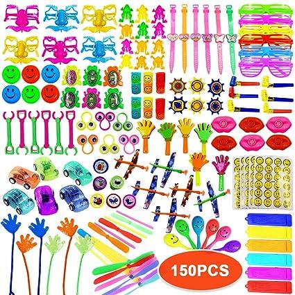 Amazon.com: ToyerBee recuerdos de fiesta para niños, 150 ...