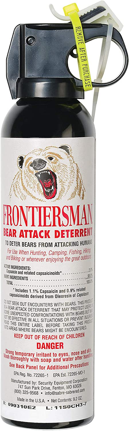 Bear Spray as your safety in camping list