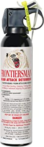 SABRE Frontiersman Bear Spray 9.2 oz (Holster Options & Multi-Pack Options) — Maximum Strength, Maximum Range & Greatest Protective Barrier Per Burst! — Effective Against All Types of Bears