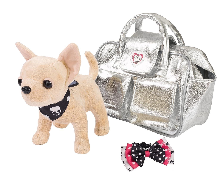 Chi Chi Love - Peluche con bolso, color rosa / beige (Simba 5891717) Simba Toys Perros bolsito chichi