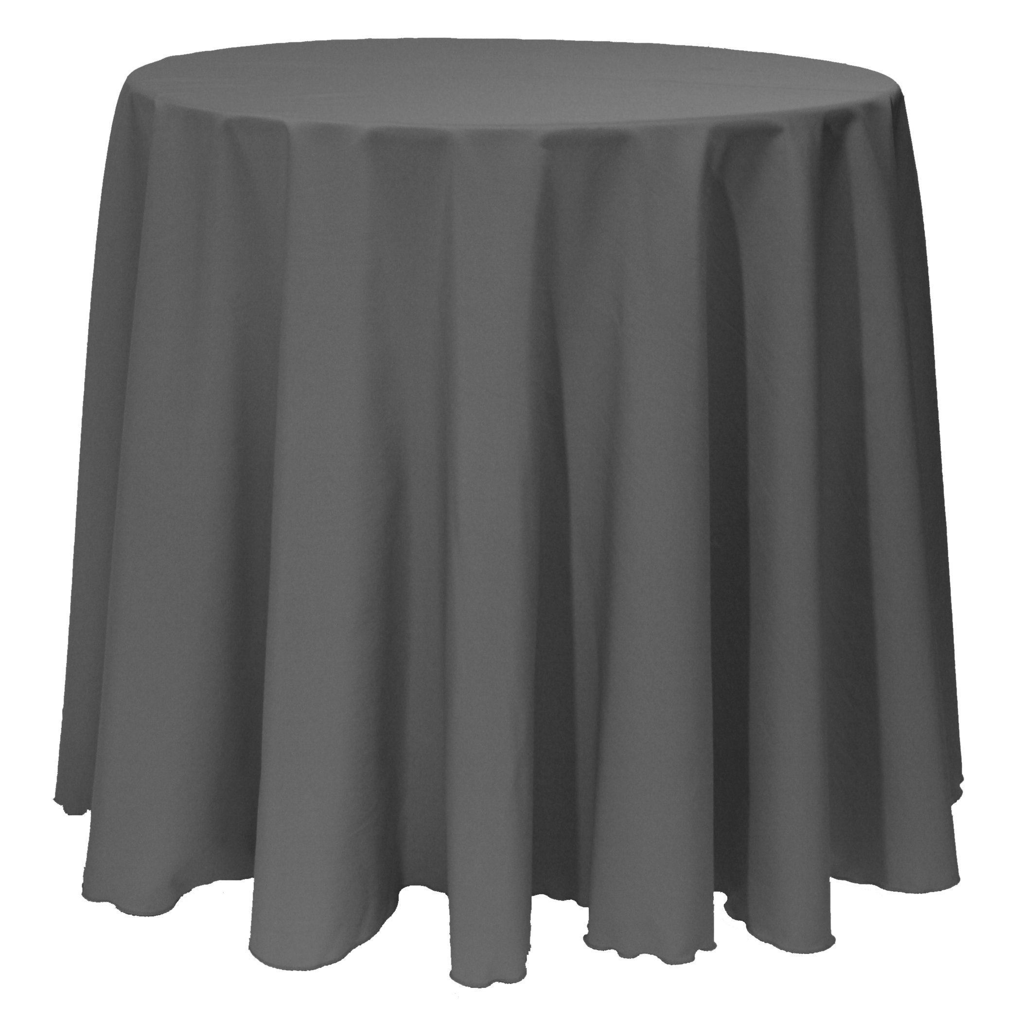 Ultimate Textile (10 Pack) 108-Inch Round Polyester Linen Tablecloth - for Wedding, Restaurant or Banquet use, Charcoal Grey by Ultimate Textile
