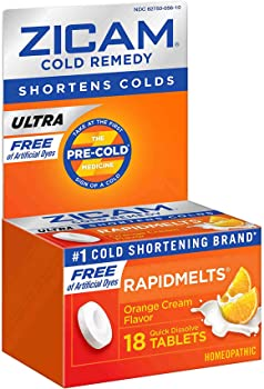 18-Count Zicam Orange Cream RapidMelts Quick Dissolve Ultra Cold Tablets