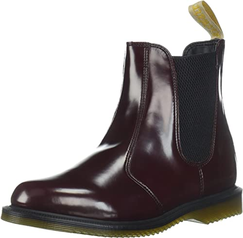 Dr. Martens Women's Red Boot Shoes Cherry Flora Chelsea