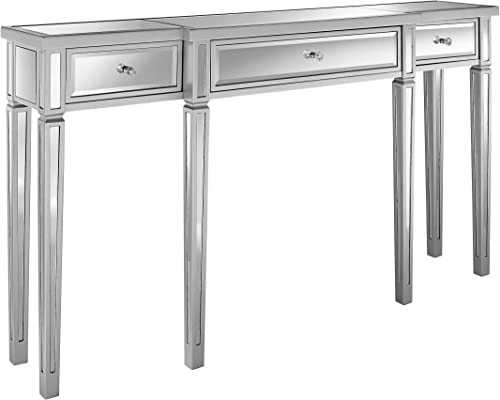 Pulaski Damon Mirrored Console Table, 59.0 L x 12.25 W x 33.0 H