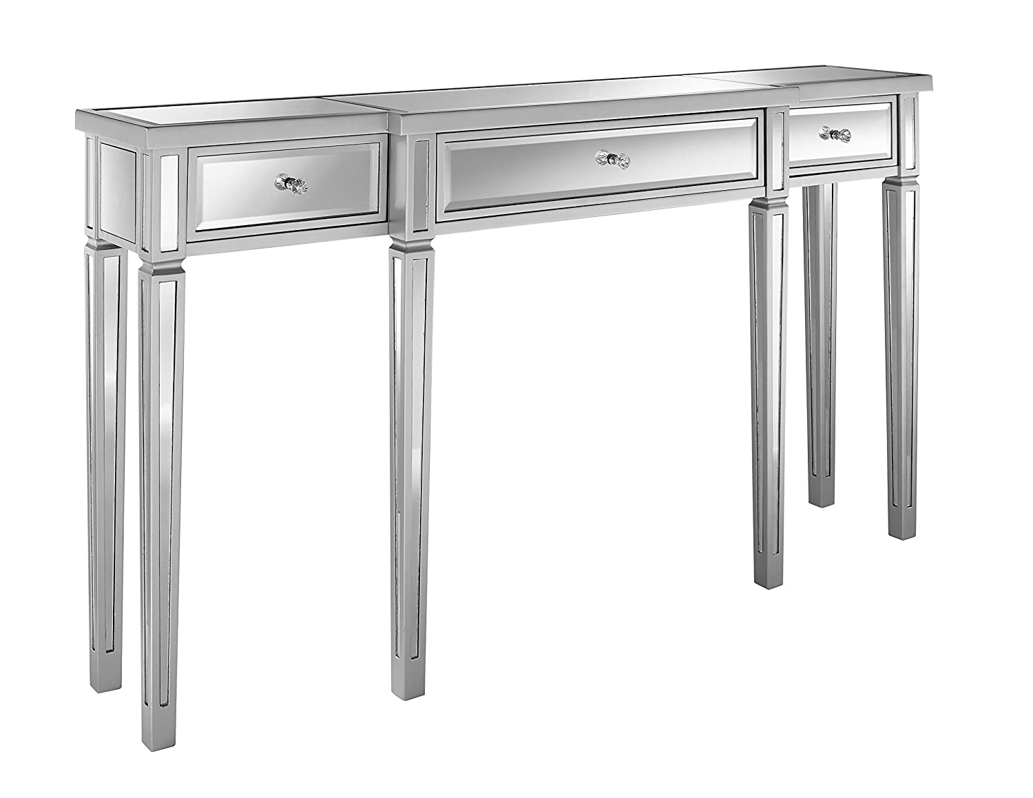 Pulaski Damon Mirrored Console Table, 59.0 L x 12.25 W x 33.0 H