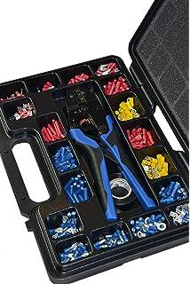Sortiment für Elektriker Aderendhülsen Schrumpfschläuche Kabelbinder Kabelschuhe