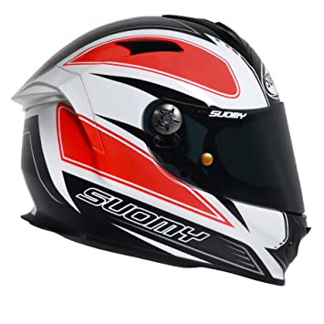SUOMY SR Sport - Casco para Moto Integral, Multicolor (Naranja), XL