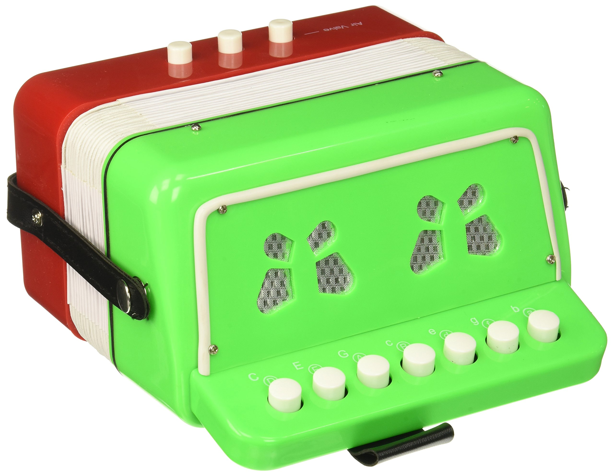 SKY Accordion Mexican Flag Pattern 7 Button 2 Bass Kid Music Instrument Easy to PlayGREAT GIFT by Sky