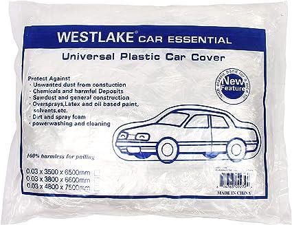 10 Pack Disposable Plastic Auto Vehicle Car Cover Rain Dust Garage Painting