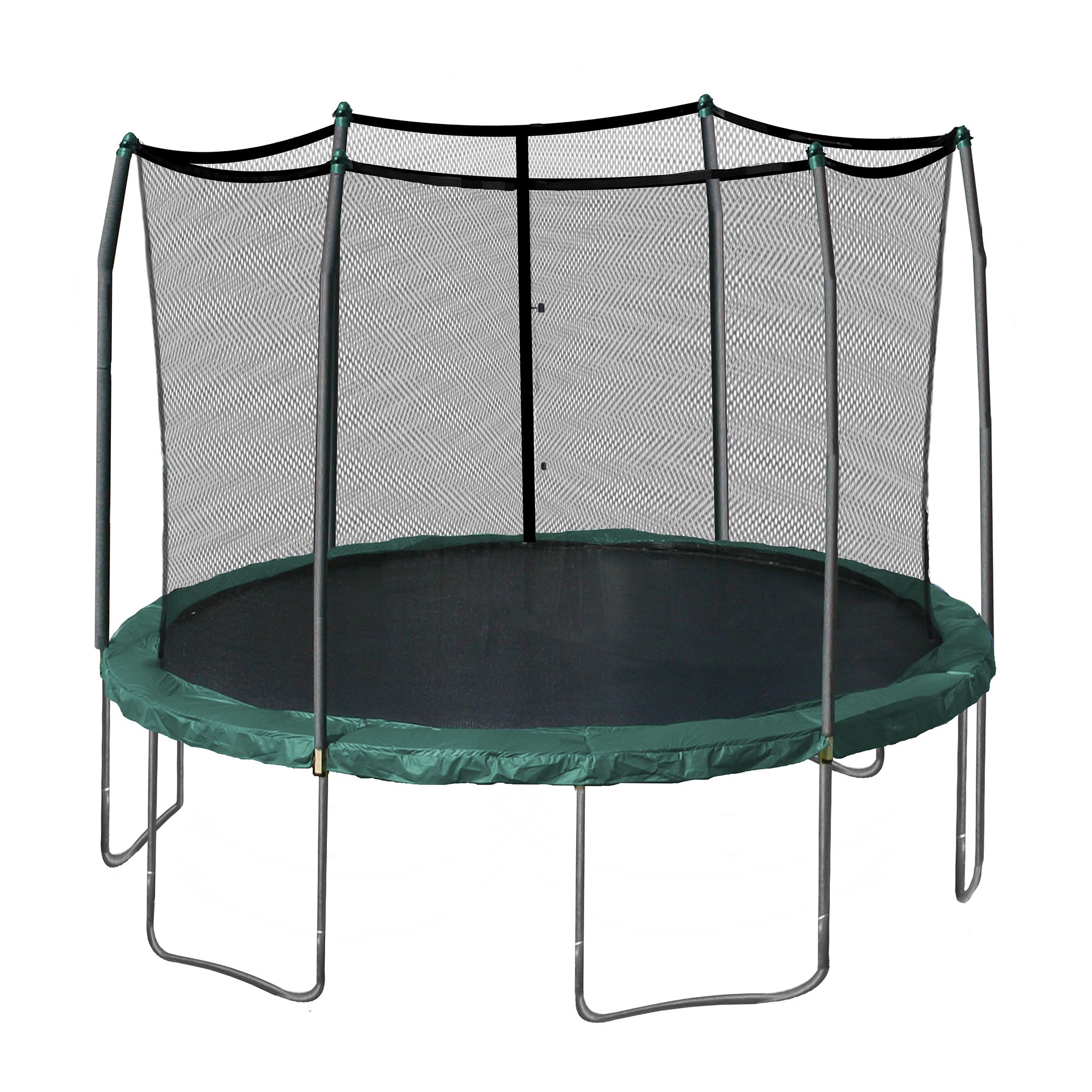 Skywalker 12-Feet Round Trampoline and Enclosure Combo with Spring Pad, Green
