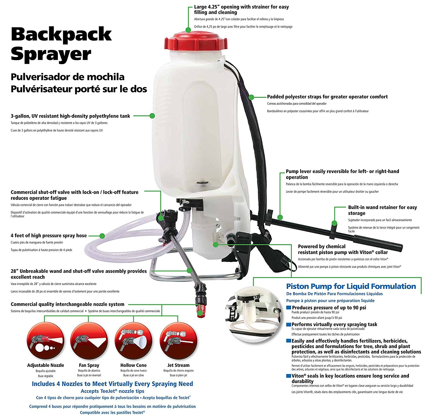 Amazon.com : Solo 473-P 3-Gallon Professional Backpack Sprayer (Pack of 2) : Garden & Outdoor