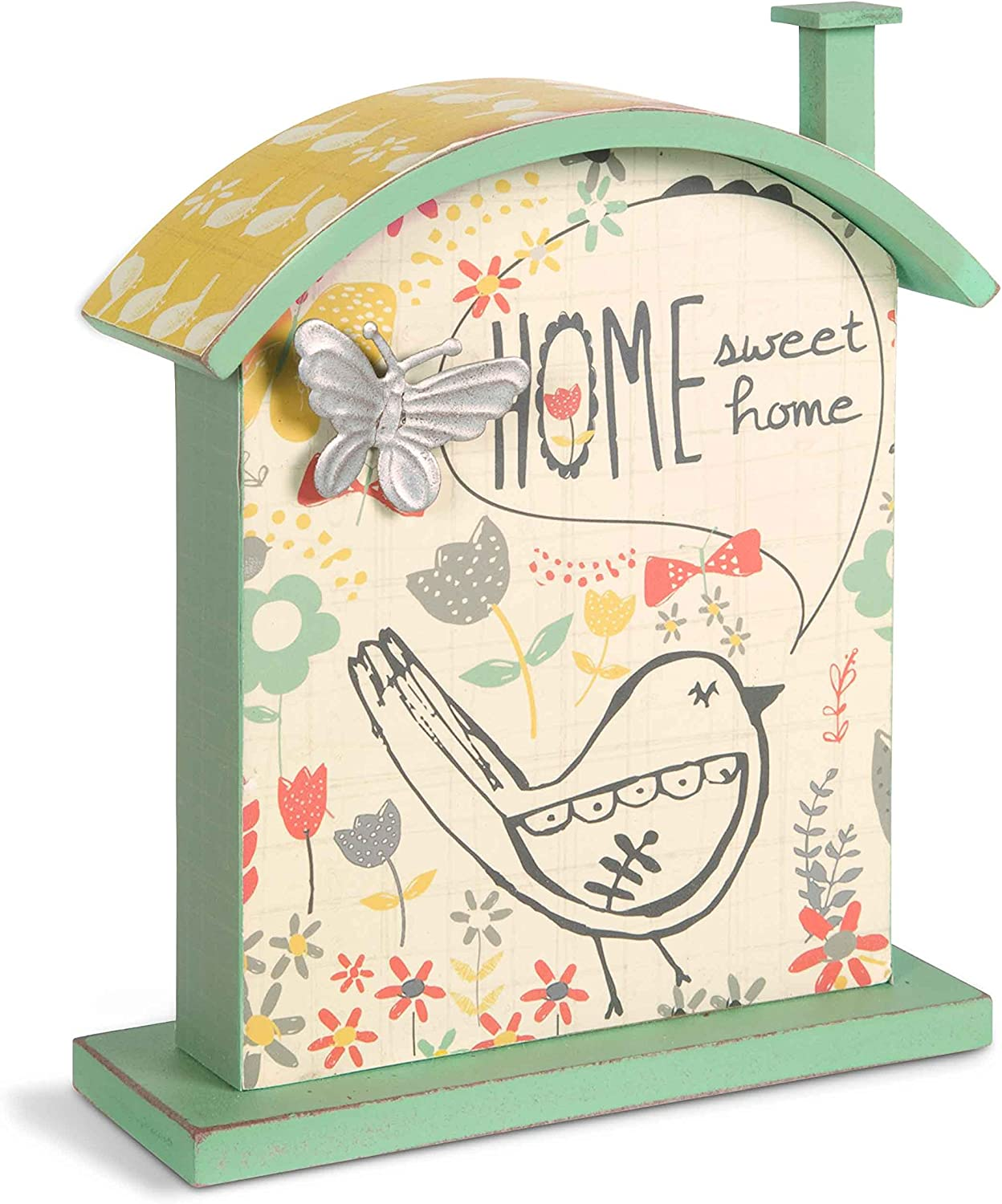 Pavilion Gift Company 74017 Home Sweet Home Self-Standing House Plaque, 7""