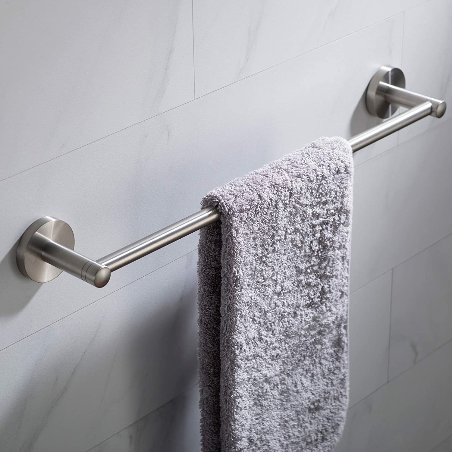 Kraus Elie 18 Inch Bathroom Towel Bar Brushed Nickel Finish Kea 18836bn Amazon Com