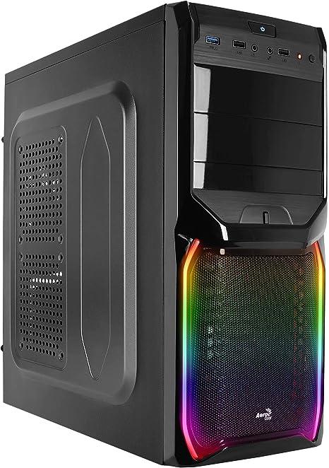 Aerocool V3X RGB - Caja Gaming para PC (semitorre, ATX, Ventilador Trasero 8cm, LED RGB, USB 2.0/3.0): Amazon.es: Informática