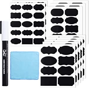 Mr. Pen- Chalkboard Labels, 100pc, Assorted Shapes, 1 White Chalk Marker and Small Towel, Labels, Label Stickers, Labels for Storage Bins, Sticker Labels, Bottle Labels, Food Labels, Jar Labels