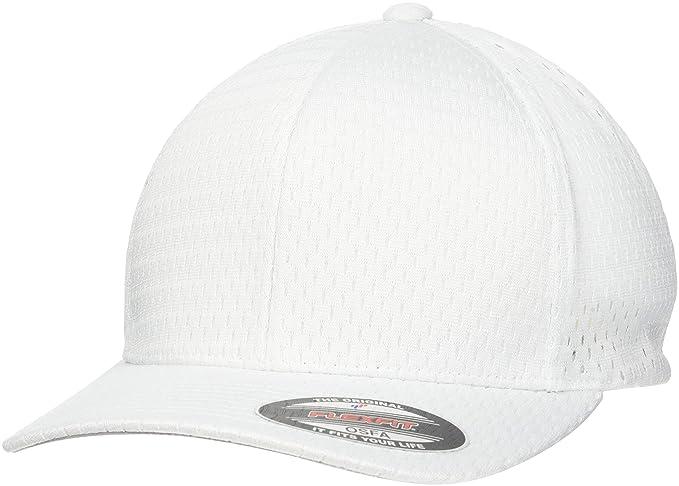 86bb82a1 Flexfit Athletic Mesh Stretchable Cap - White - One Size