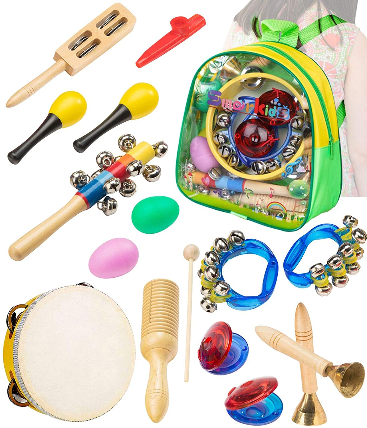 Musical Instrument Wooden Handle Percussion Toy For Kids Learning Music 8C