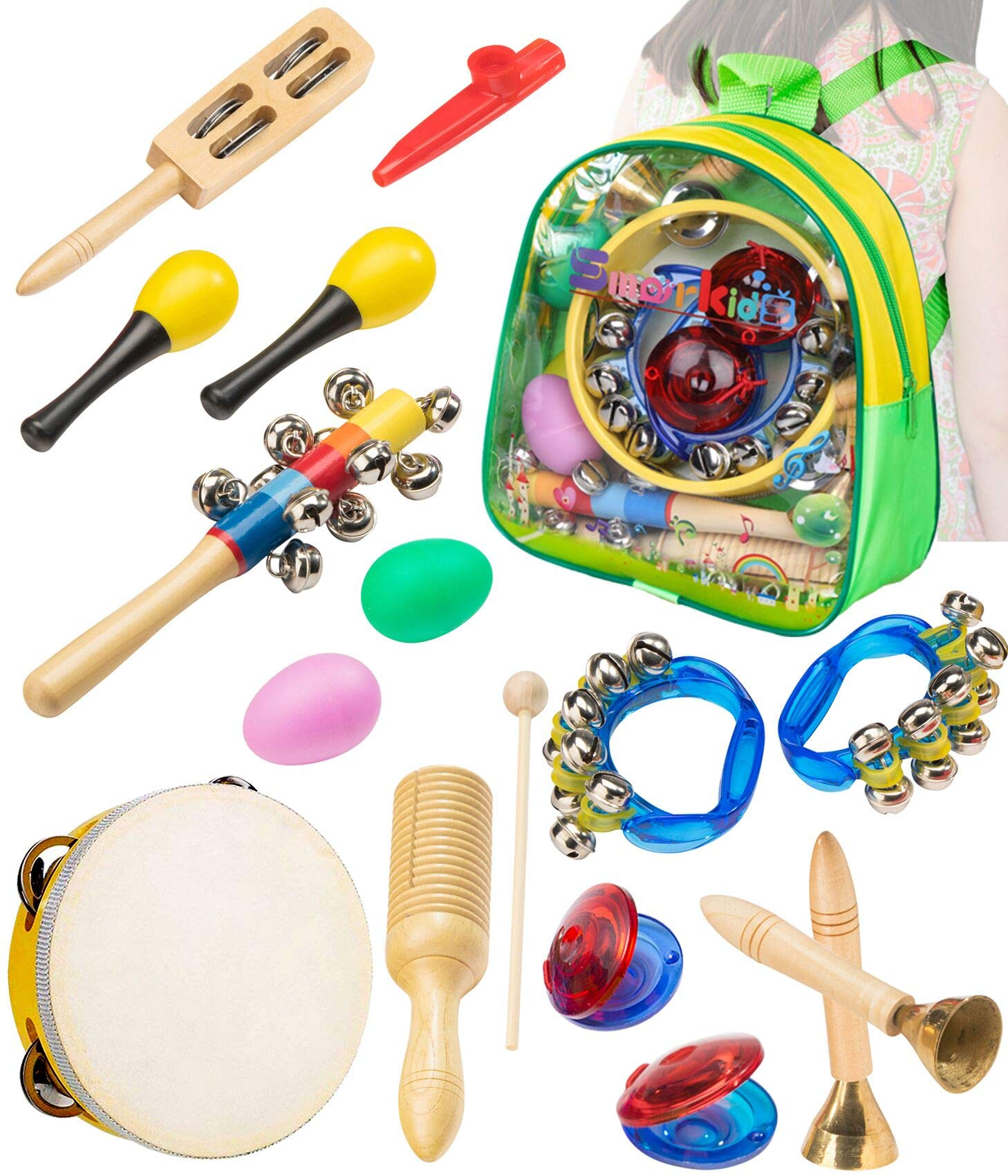 Smarkids Musical Instruments Toddler Toys - Professional Preschool Music Education Toys Percussion Instruments Set Music Early Learning Toys for Boys and Girls with Storage Backpack by Smarkids