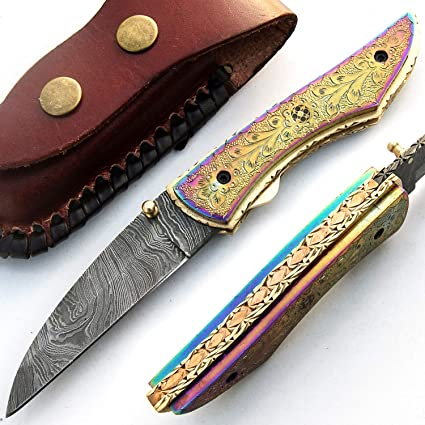 PAL 2000 SJRJ 9515 Titanio Cuchillo de Hoja de Acero de ...