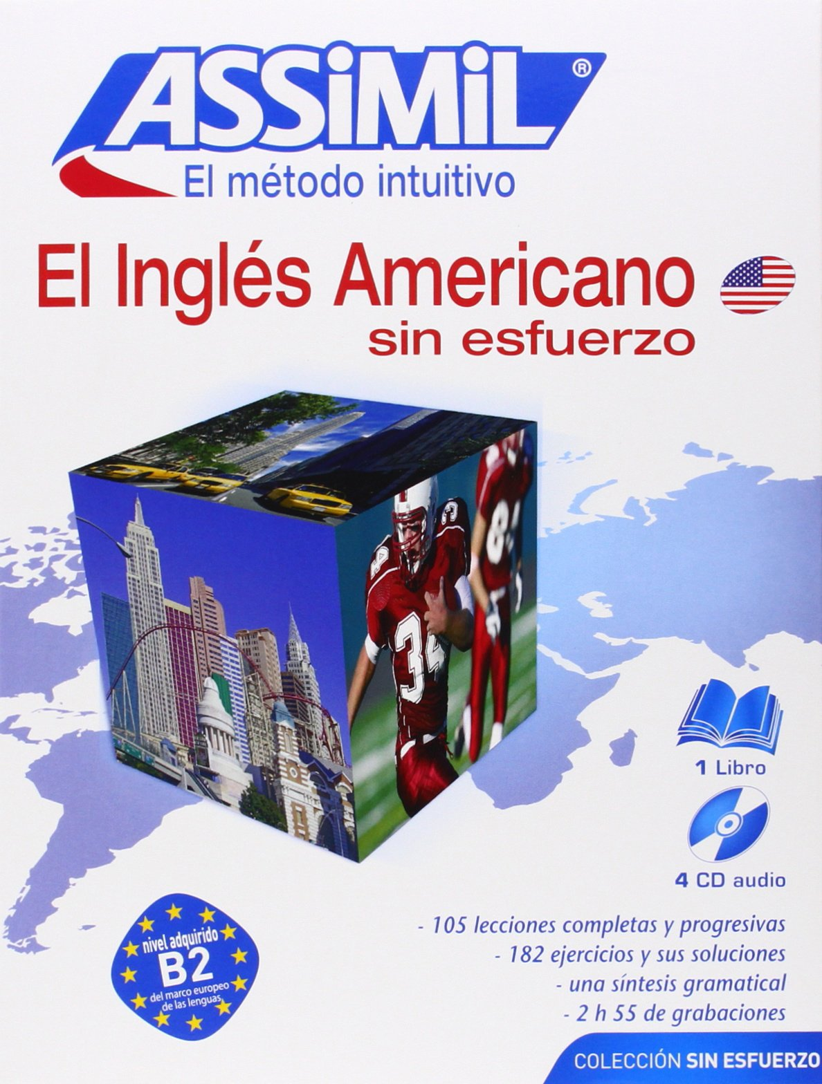 El Ingles Americano Sin Esfuerzo [With 4 CD's] (Assimil)