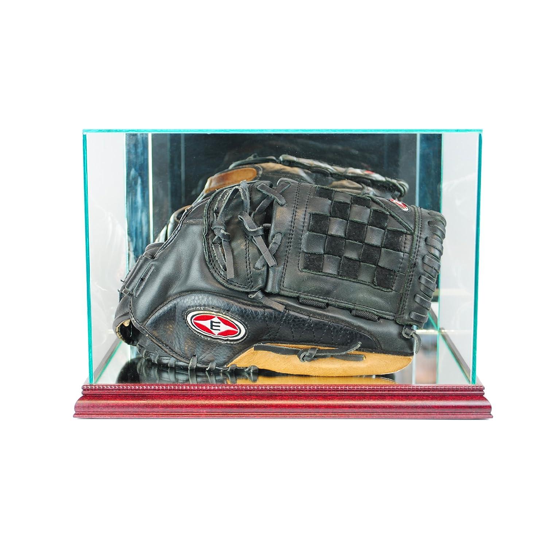 MLB野球グローブ長方形ガラスディスプレイケース チェリー