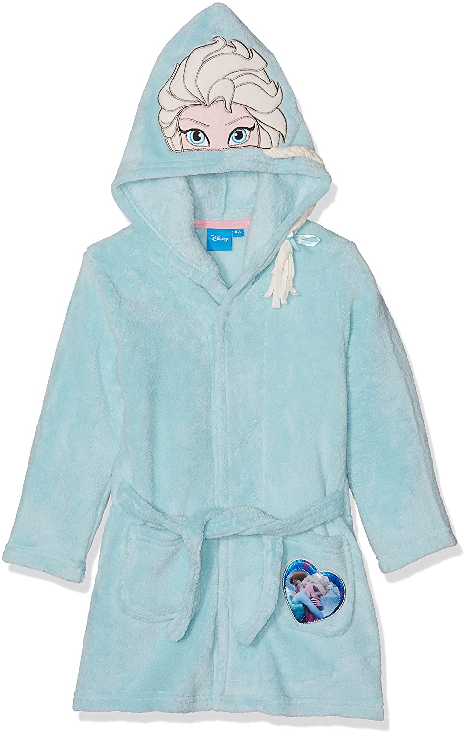 Disney Frozen Official Licensed Girls Onesie/Sleepsuit/Jumpsuit/Robe/Gown Bleu (Blue) 3-4 (Size: 4 Years) LA REINE DES NEIGES DPH2044